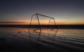 Картинка Закат, Пляж, Beach, Sunset, Варота
