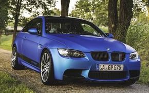 Картинка BMW, E92, BLUE, KOMPRESSOR