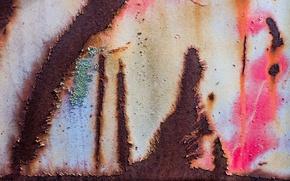 Картинка стена, краска, ржавчина