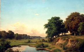 Картинка пейзаж, Орловский, прудик