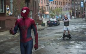 Картинка spider man, Andrew Garfield, Paul Giamatti, the amazing spider man 2