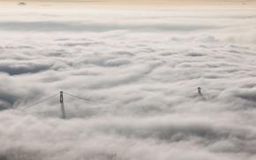Картинка пейзаж, природа, туман, Lions Gate Bridge