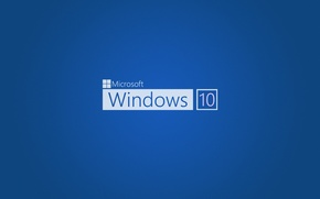Обои operating system, blue, Windows 10