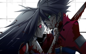 Картинка кровь, аниме, убийство, девка, пацан