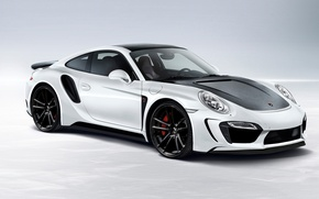 Картинка car, Porsche, GTR, порше, tuning, Turbo, автообои, TopCar, 991, Stinger