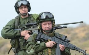 Картинка Солдаты, Россия, Бойцы, Винтовка, Ратник, Орсис Т-5000