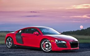 Картинка red, audi r8, supercar