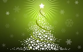 Картинка снежинки, звезда, звёздочки, ёлка