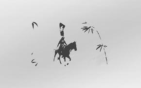 Картинка samurai, wind, gray