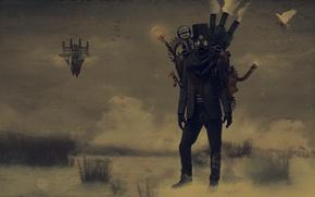 Картинка Человек, Противогаз, Steampunk, Стимпанк, Паропанк