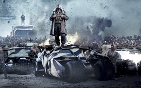 Обои Бэтмен, Batman, The Dark Knight Rises, Bane, Бейн