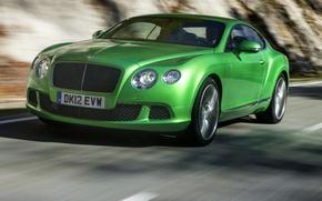 Картинка дорога, купе, Bentley