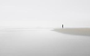 Картинка море, берег, человек