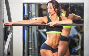 Картинка pose, workout, fitness, resting, abs