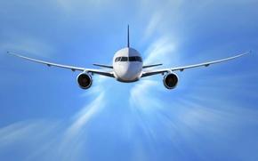 Картинка небо, полет, авиация, самолет