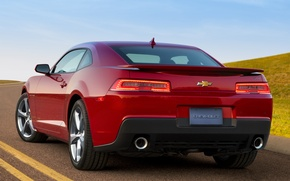 Картинка car, Chevrolet, Camaro, red, sportcar, 2013