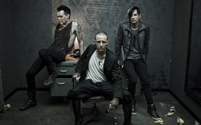 Обои стол, кресло, зеркало, телефон, проект, Linkin Park, Chester Bennington, Dead By Sunrise, Честер Беннингтон, сольный, ...