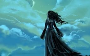 Обои грусть, полет, Облака, 151, прощание