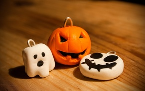 Картинка праздник, тыква, хэллоуин, halloween, привидение, брелки
