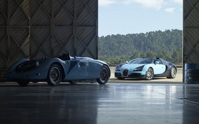 Картинка авто, спорт, Бугатти, Bugatti, Вейрон, Veyron, гранд, sport car, grand sport, спорт кар.