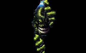 Обои рисунок, халк, marvel, Hulk