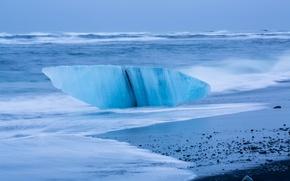 Обои исландия, море, волны, шторм, берег