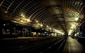 Обои ржд, вокзал, поезд