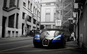 Обои veyron, bugatti, переулок