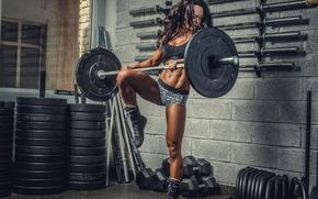 Картинка strength, female, workout, fitness, gym
