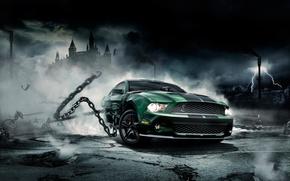 Обои Mustang, Ford, Shelby, Мустанг, цепи