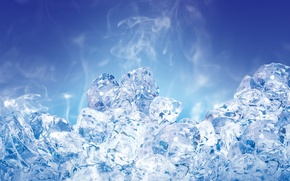 Обои 155, синий, лед, прозрачный