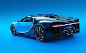 Обои Широн, фон, вид сзади, Бугатти, суперкар, Bugatti, гиперкар, Chiron