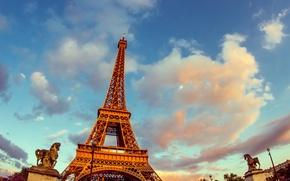 Картинка небо, Франция, Париж, башня