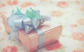 Картинка коробка, подарок, лента, бант