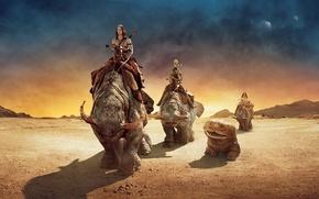 Обои пустыня, фантастика, джон картер, john carter, горы