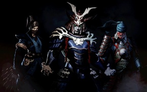 Картинка kitana, mortal kombat x, samurai pack, kenshi, shinok