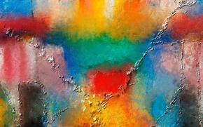 Картинка цвет, радуга, рисунок, краски, пятно, мазок, разводы