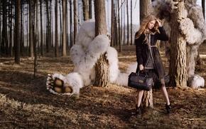 Картинка лес, чудища, Lindsey Wixson