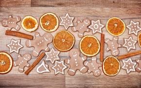 Обои Xmas, Новый Год, выпечка, Merry, gingerbread, сладкое, печенье, глазурь, Рождество, Christmas, cookies, decoration