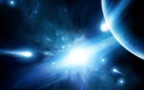 Картинка light, planets, Sci Fi