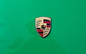 Обои знак, логотип, Porsche 914