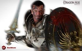 Картинка Меч, Воин, Щит, Grey Warden, Серый Страж, Dragon Age: Origins