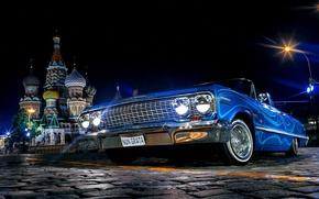 Обои Москва, Собор Василия Блаженного, Авто, Chevrolet Impala 1967, Красная площадь