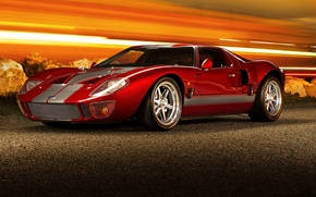 Картинка red, supercar, ford gt40