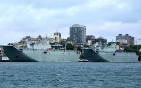 """Картинка корабли, Австралия, ВМС, Десантные, """"Canberra"""", универсальные, """"Adelaide"""""""