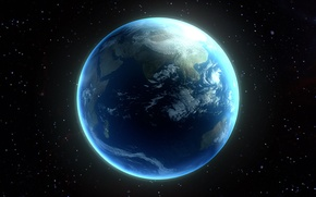 Картинка atmosphere, oceans, continents, planet similar to Earth