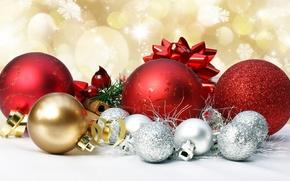 Картинка шарики, праздник, игрушки, украшение