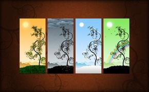 Картинка вектор, картина, сезоны
