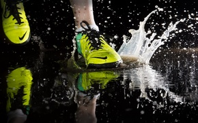 Картинка спорт, лужа, бег