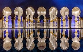 Картинка city, город, Abu Dhabi, ОАЭ, столица, Мечеть шейха Зайда, Абу-Даби, UAE, capital, United Arab Emirates, …